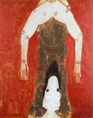 Anzug, Polaroidtransformation auf Alu, 2009