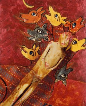 Geister, Polaroidtransformation auf Alu, 2009