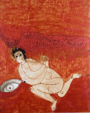 Körperauge, Polaroidtransformation auf Alu, 2009