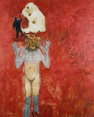 Traum, Polaroidtransformation auf Alu, 2009