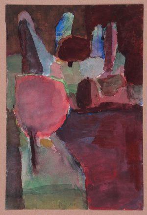 Ufer, Aquarell, 1962
