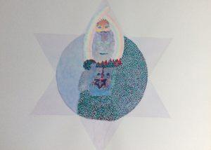 Erscheinung für Tarot, Aquarell, 1970