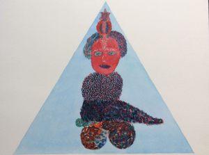 Herrscherin für Tarot, Aquarell, 1970