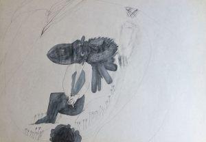Gulliver, Farbstift auf Papier, 1967