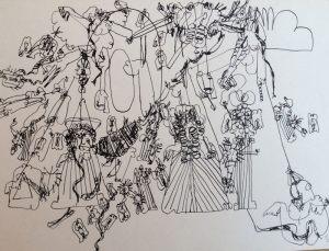 Ameisengeister, Tusche, 1964