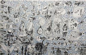 Geistausflasche, Tusche, 1969