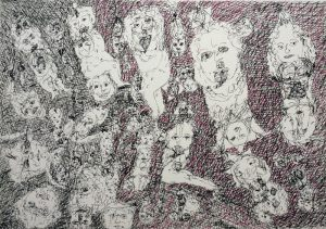 Heilige, Tusche, 1969