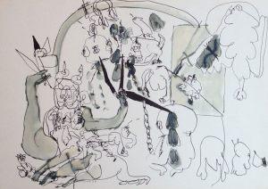 Shiva, Tusche, 1964