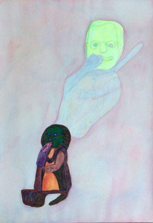 Inspirator, Gouache auf Papier, 1969