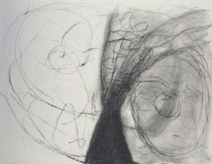 Im Aufbruch, Kohle auf Bütten, 1988