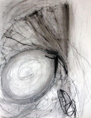Körperlicht, Kohlezeichnung, 1993