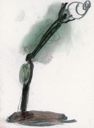Lebensbaum, Kohle und Pastel, 2005