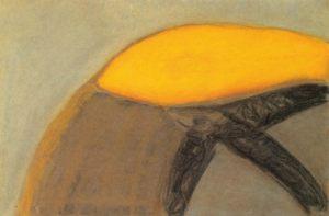 Feuer für Sonne, Pastell auf Bütten, 1990