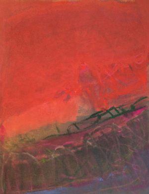 Vogel, Pastell auf Bütten, 2010