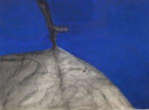 Nachtbaum, Pastell auf Bütten, 2011