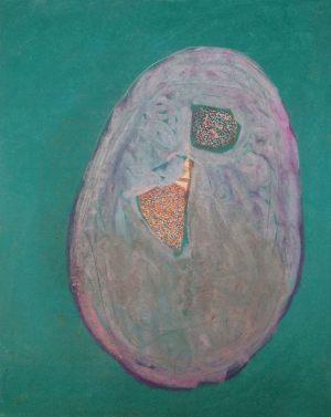 Landschaft aus Ei, Pastell auf Bütten, 2013
