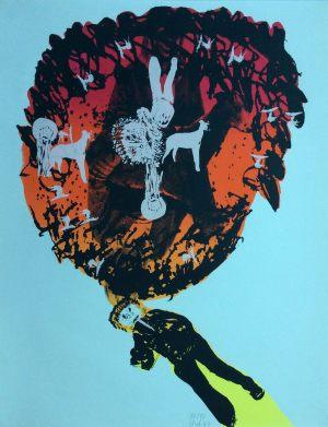 Läufer, Handsiebdruck, 1967