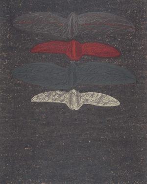 Feuer, Handsiebdruck, 1990