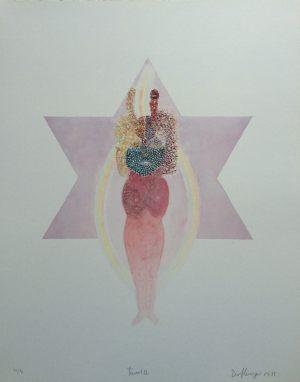 The High Priestess, Tarot, Granolithographie, 1975