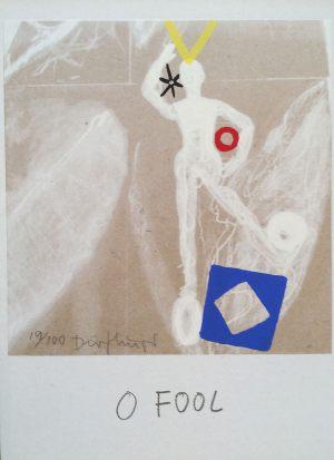Narr, Tarot, Handsiebdruck auf Karton, 1988
