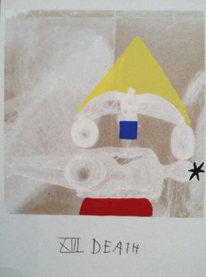Tod, Tarot, Handsiebdruck auf Karton, 1988