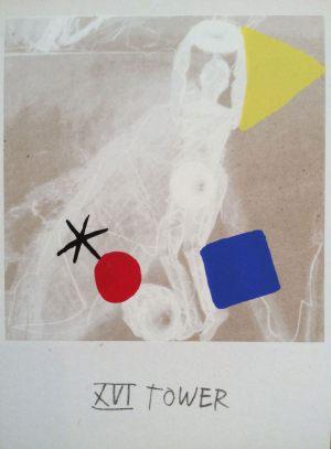 Turm, Tarot, Handsiebdruck auf Karton, 1988