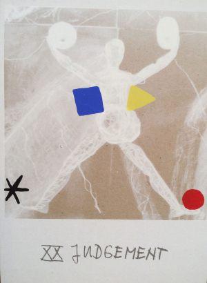 Gericht, Tarot, Handsiebdruck auf Karton, 1988