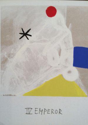 Herrscher, Tarot, Handsiebdruck auf Karton, 1988
